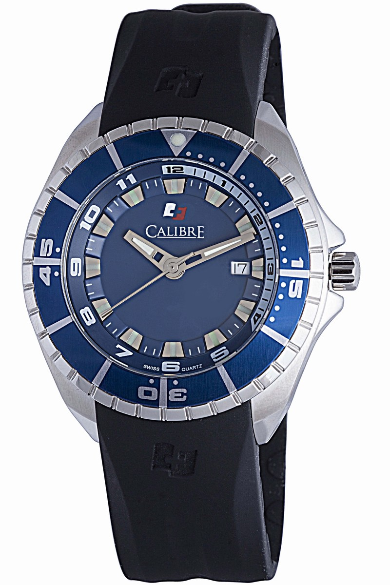 Calibre Men's SC-4S2-04-001.3 Sea Knight Analog Display Quartz Black Watch